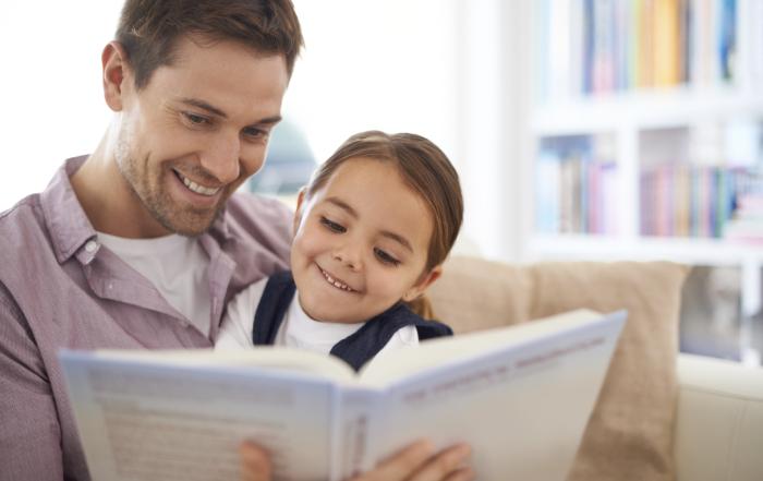 Read my favorite story  again, Dad